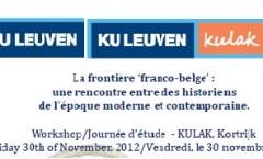 La frontière franco-belge (30/11/2012)